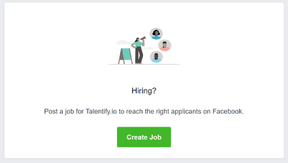 how to post on facebook for jobs